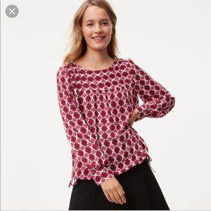 🌻2/$20 NEW! Loft floral tie hem blouse - Size XSP
